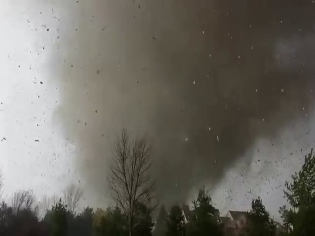 Intense Footage from Inside a House Being Destroyed by a Tornado