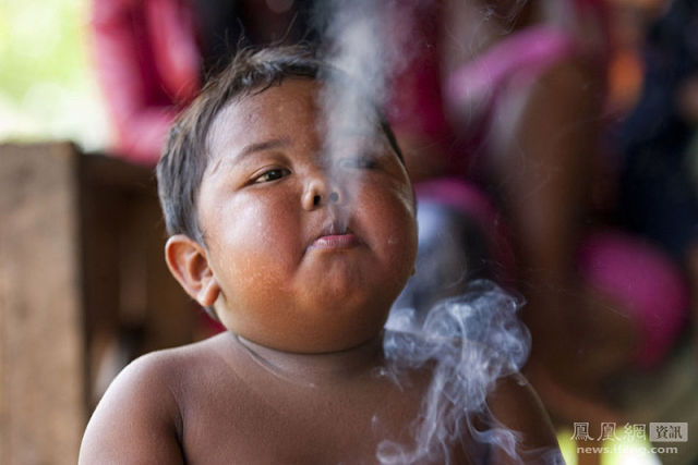 Four Year Old Boy Quits Smoking and Takes Up Eating Instead