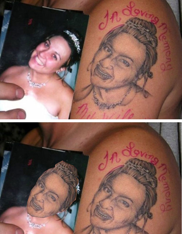 When Tattoos Fail, You End Up with This