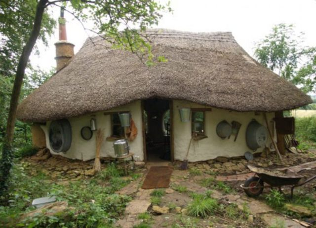 A Cheaply Built Cob House That Is Rented for Milk