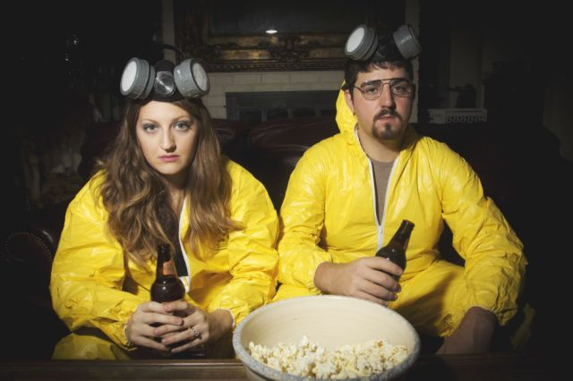 "Quirky ""Breaking Bad"" Themed Engagement Photoshoot"