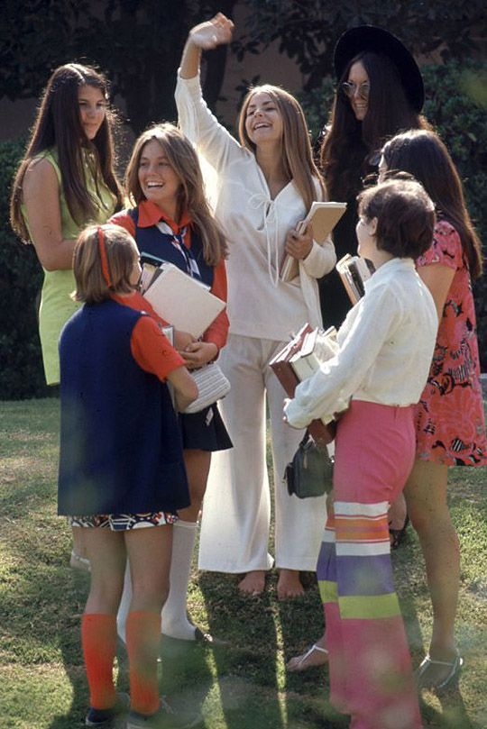 Vintage Photos of American High School Female Students in 1969