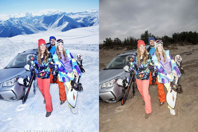 How Winter Clothing Photoshoots are Really Done…
