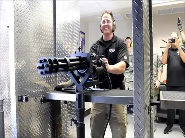 Shooting 90 Bullets in 1.25 Seconds with a Minigun