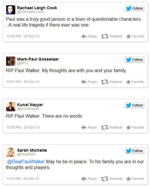 In Memory of Paul Walker