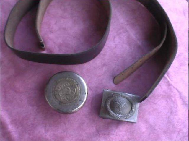 A Vintage SS Officer's Gun Belt and Gun