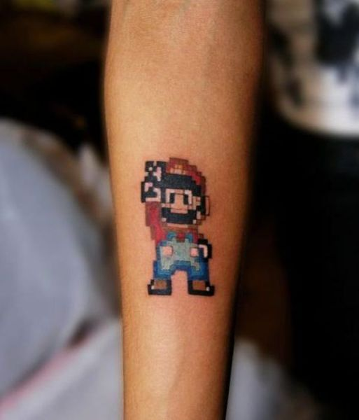 Fun and Peculiar Pixelated Tattoo Art