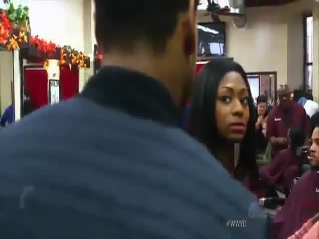 Black Guy Brings White Girlfriend to Barbershop in Harlem and Gets Hated On