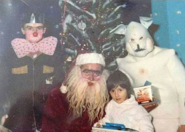 Scary-Looking Santas from the Years Gone By
