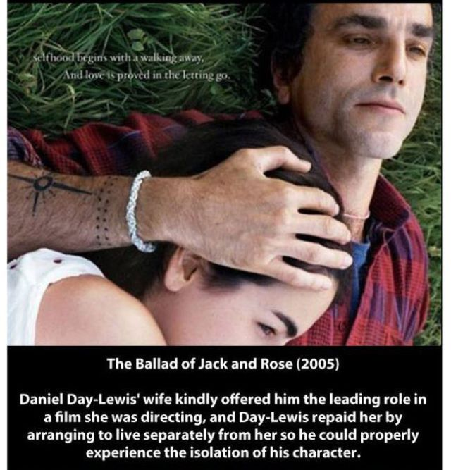Examples of the Extreme Method Acting of Daniel Day-Lewis