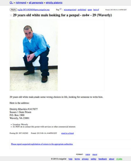Strange and Amusing Craiglist Ads from 2013