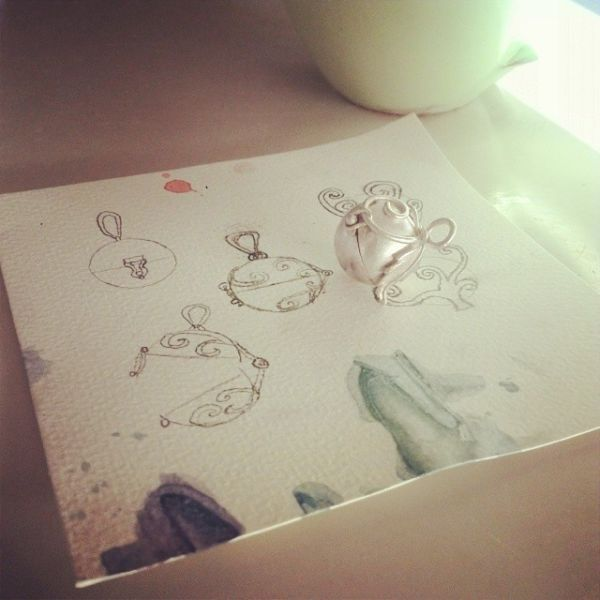 Handmade Silver Solar System Pendants