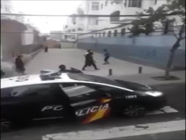 Spanish Cop Fail