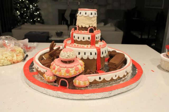 A Fun Fantasy Kingdom Made Entirely out of Gingerbread