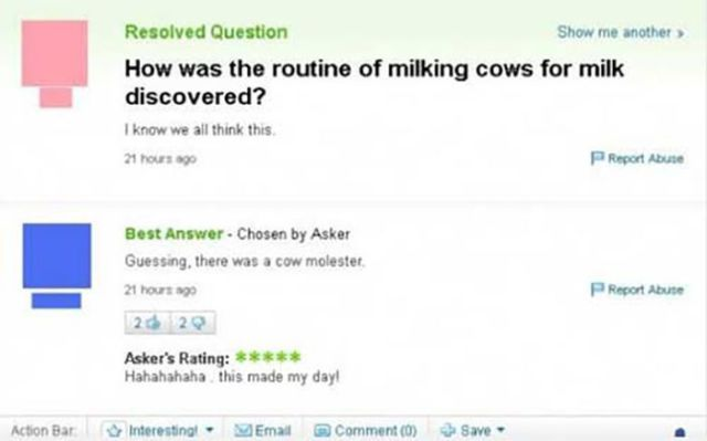 The Dumbest Answers Ever Posted on Yahoo
