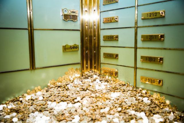 A Glittering Gold Money-Filled Pool