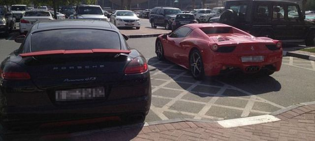 A Typical Parking Lot at a University in Dubai