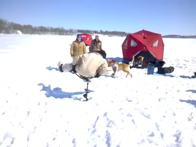 How to Have Fun with an Ice Auger