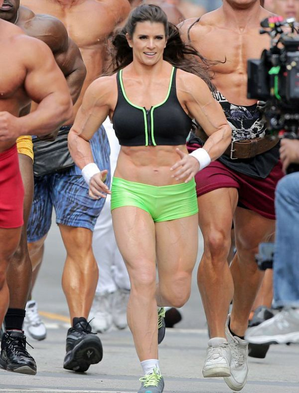Danica Patrick Is a Muscle Woman!