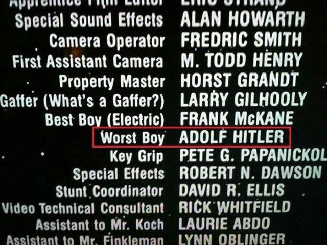 The Most Amusing Movie Credits