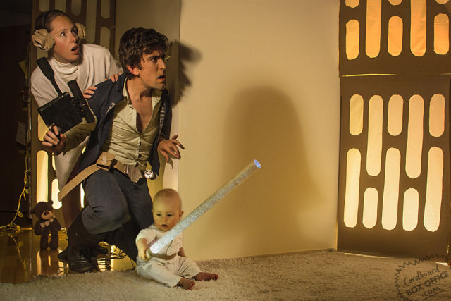 Baby Acting out Famous Movie Scenes with Parents