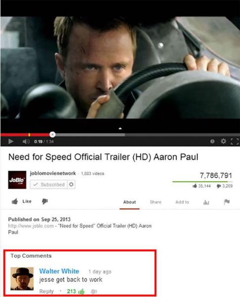 Hilarious and Clever YouTube Comments