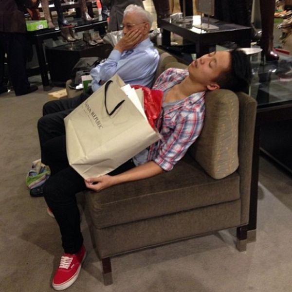 When Men Go Shopping With Women