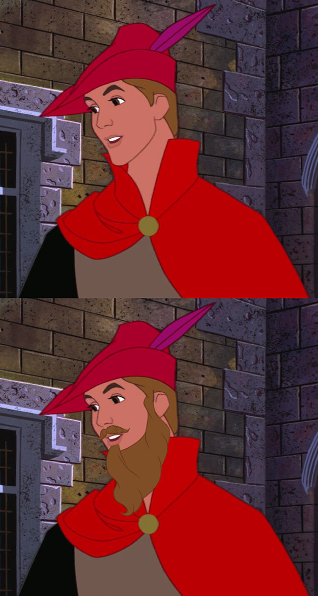 Funny Disney Characters With and Without Beards