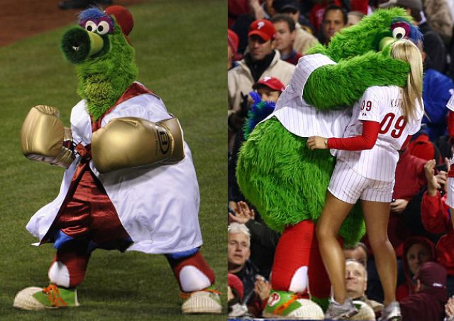 Mascots Caught in the Wrong Position