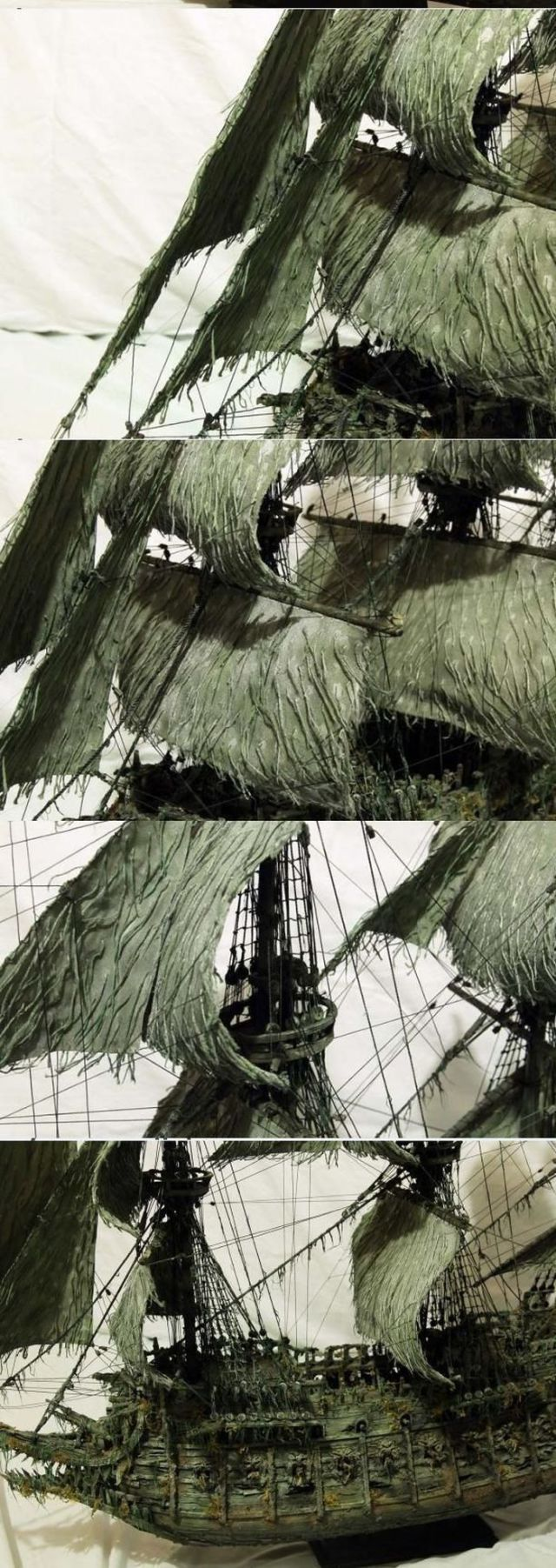 A Model Ship of The Flying Dutchman from Pirates of the Caribbean