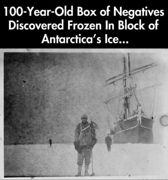 Photos Developed From 100 Years Ago, Preserved by Antarctica's Ice
