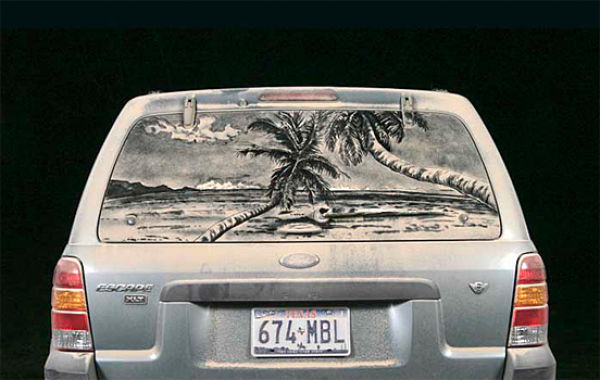 Amazing Art Made on Dusty Cars