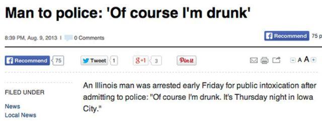 Drunken People Do the Strangest Things: Men vs Women