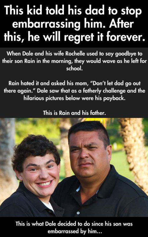 This Dad Wins At Embarrassing His Son