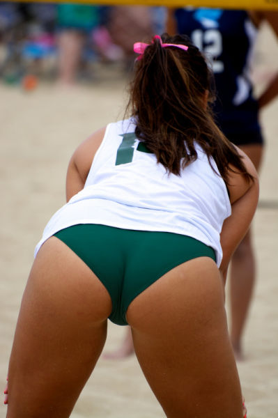 Volleyball ass butt shorts wedgie