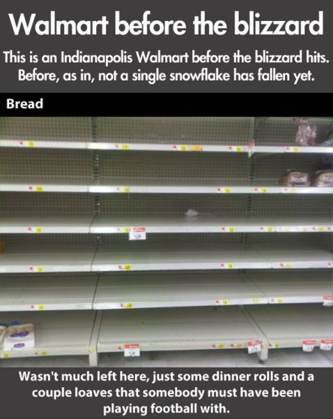 Before the Blizzard Walmart is Pillaged