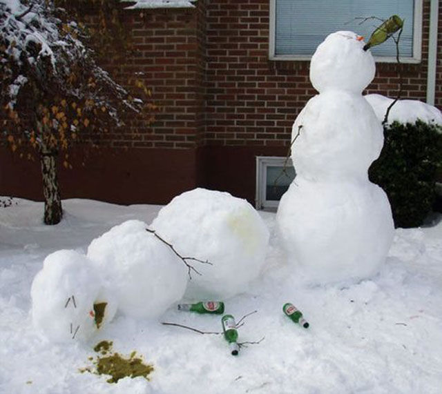 Creative Snowmen Enjoying Everyday Life