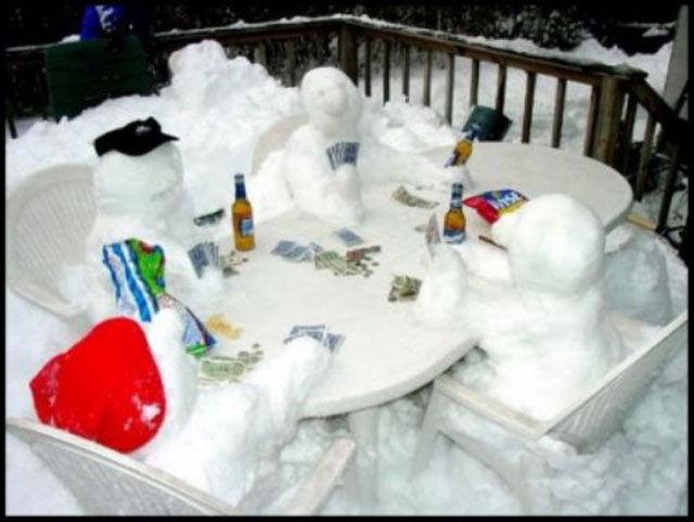Creative Snowmen Enjoying Everyday Life