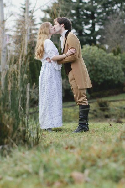A Super Romantic Pride and Prejudice Themed Engagement Surprise