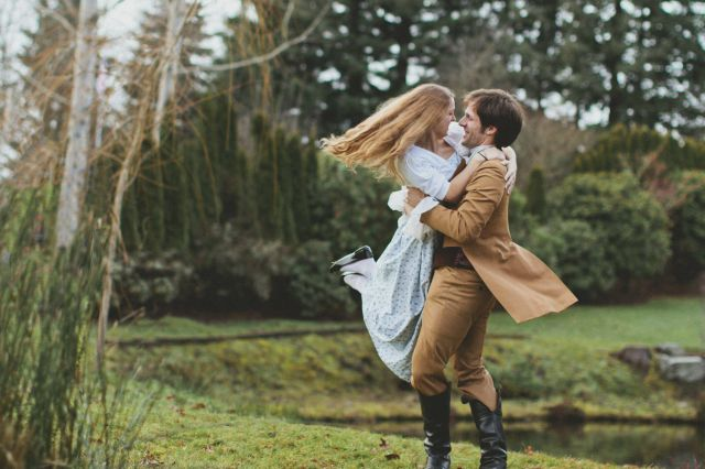 A Super Romantic Pride and Prejudice Themed Engagement Surprise