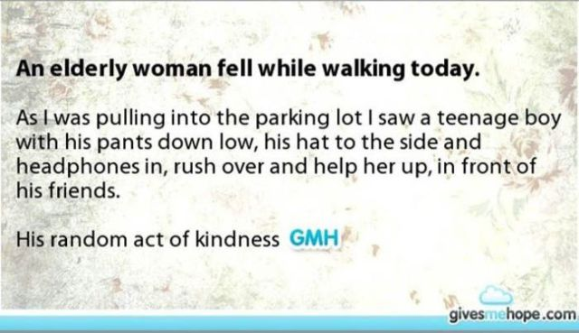 There Is Nothing More Touching Than the Kindness of Strangers