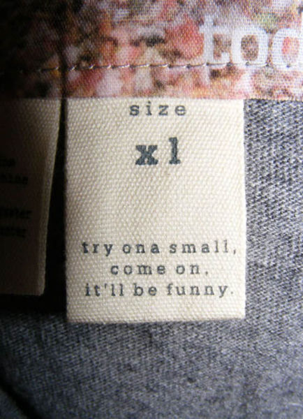 Hilarious Clothing Tags That Are Just Classic