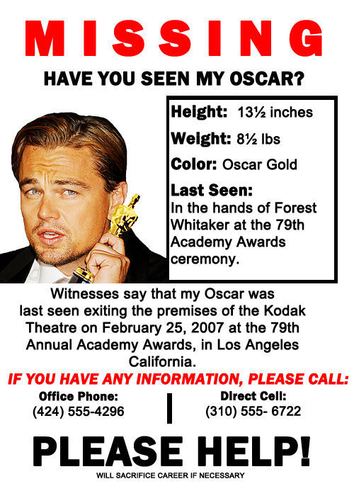 People Need Leo DiCaprio to Win an Oscar Already