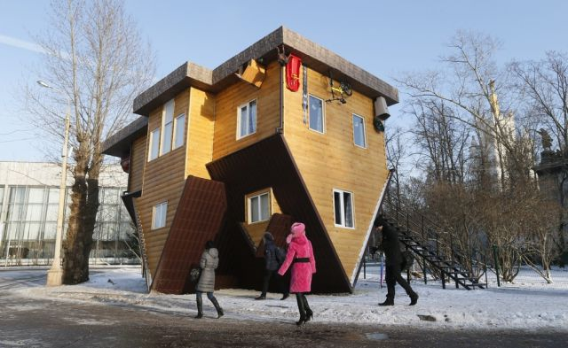 An Unusual Russian House That Is Completely Upside Down