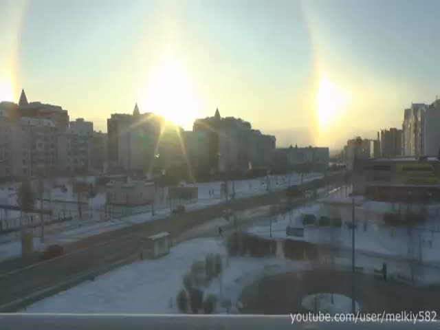 Sundogs with Halo in Moscow