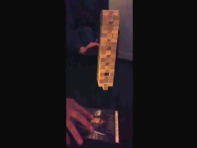 The Unexpected Happens during Drinking Jenga Game