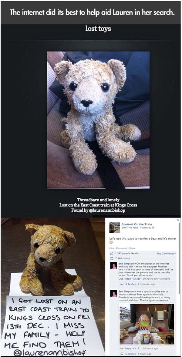 A Lost Stuffed Animal Is Found Thanks to the Internet