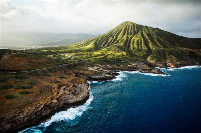 A Scenic Aerial View of the Hawaiian Islands