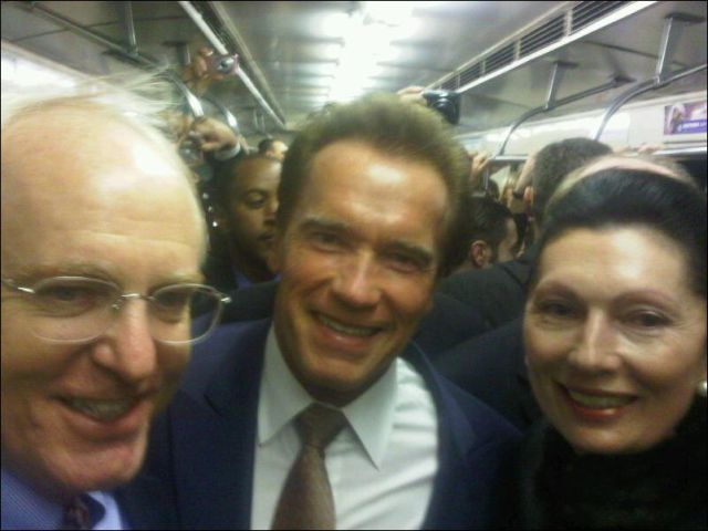 Famous Faces Spotted on the Subway