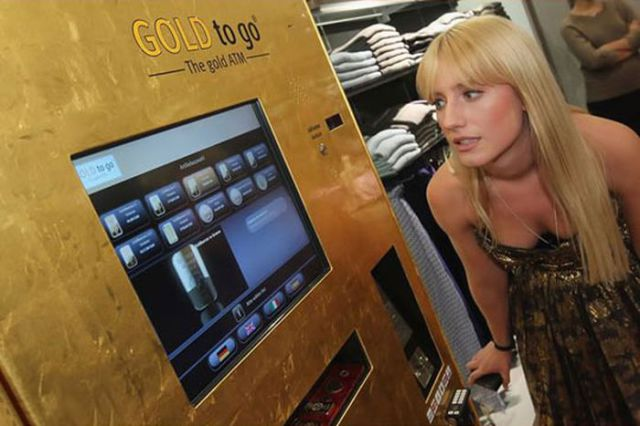 "The ""Gold to Go"" ATM in Galeries"